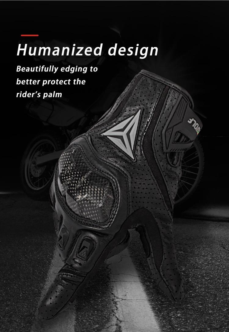 Image 5 - Полный палец овчины мотоциклетные перчатки водонепроницаемый  дышащий Скутер Чоппер перчатки для верховой езды анти осенние кожаные  перчатки для мотокроссаПерчатки   -
