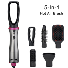 Brush Drier Hair-Dryer Comb Blow Electric Ion 5-In-1 Curling Professional
