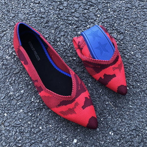 Image 2 - GENSHUO Women Ballet Flats Shoes Slip On Pointed Toe Ladies Casual Drive Shoes Comfortable Soft Loafers Shoes For pregnant Woman