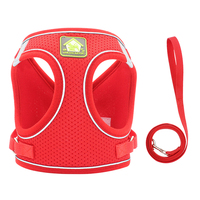 Red-Reflective Puppy Cat Harness Vest