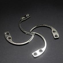 Eliminador de etiquetas de seguridad antirrobo EAS de acero inoxidable, separador de etiquetas, gancho, Pin, gancho de apertura, separador para accesorio de ropa
