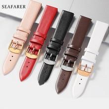 Watch Accessories 12mm-24mm Genuine Leather Watch band For DW Daniel Wellington Watch Strap Fashion Pink Watchbands