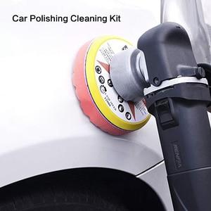 Image 5 - 5pcs Hexagonal Polished pad set Sponge Disc Buffing Sponge Waxing Polishing Pad Kit Set For Car Polisher Buffer 3/4/5/6/inches