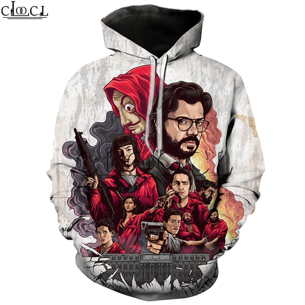 La Casa De Papel Hoodies 3D Print Women Men Jogging Sweatshirt Money Heist The Paper House Casual Streetwear Wild Pullovers