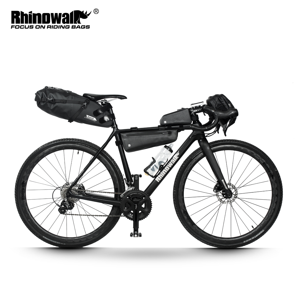 Rhinowalk <font><b>Bicycle</b></font> bag for Road bike Cycling bag Waterproof <font><b>Bicycle</b></font> Saddle Bag <font><b>Frame</b></font> Bag Bike Carry Bag Bicyle Bag <font><b>Set</b></font> image