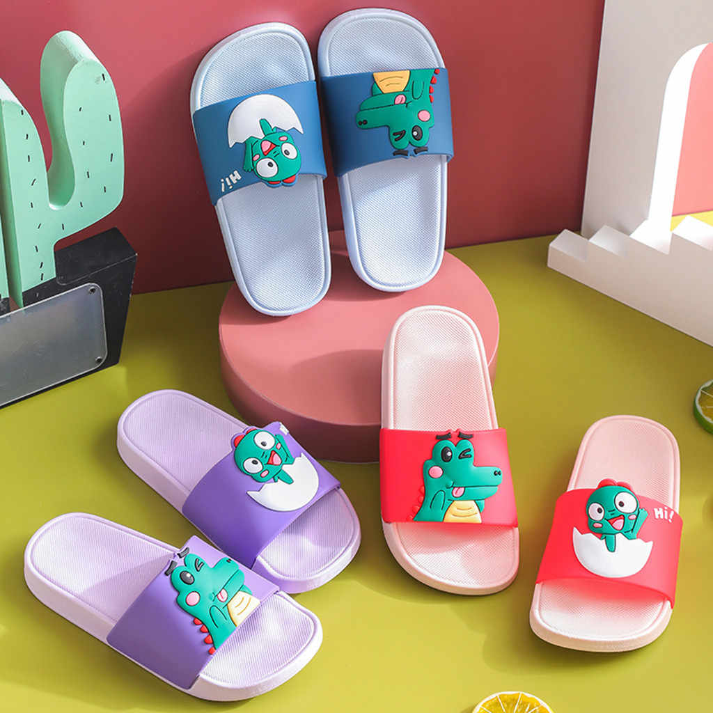 Zapatillas de mujer de dibujos animados de mujer Zapatillas de casa de verano interior niñas playa Slides chanclas Zapatillas de mujer baño 1,1