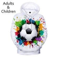 Популярные 3d футбольные толстовки мужские и женские модная