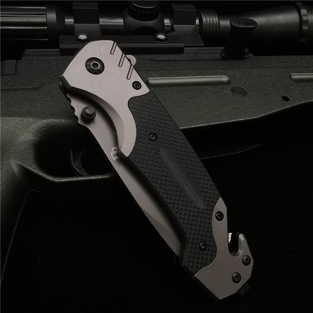 23CM (9') 58HRC Folding Knife Pipe Cutter Pocket Knives G10 Handle Tactical Outdoor Survival Combat EDC Hunting Folding Knifes 6