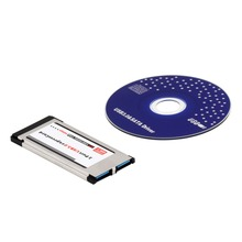 High Full Speed Express Card Expresscard to USB 3.0 2 Port Adapter 34 mm Express Card Converter New Arrival