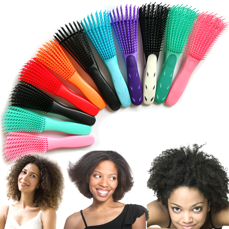 Detangling Plastic Hair Brush Scalp Massage Detangler Wet Curly Comb Women Health Care Reduce Fatigue Hairbrush Styling Tools