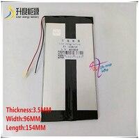 3 7 V 8000mAH 3596154 Polymer lithium-ion/Li-Ion batterie für tablet pc  GPS  mp3  mp4  POWER BANK