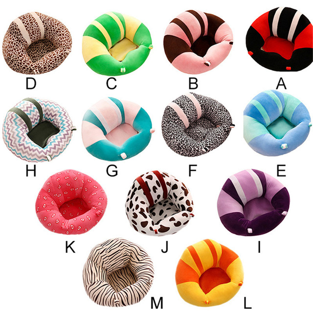 Oeak Baby Seats Plush Supportive Animal Baby Cotton Sofa Chair Seat  Support Comfortable Toddler Nest Puff No Filling Cradle