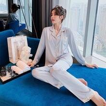 Женский пижамный комплект одежда для сна рубашка и брюки женская