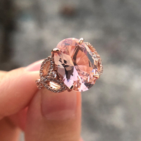 Luxury AAAAA Oval Zircon 925 Sterling silver wedding rings for women Top quality Rose gold color Sparkling CZ Engagement jewelry