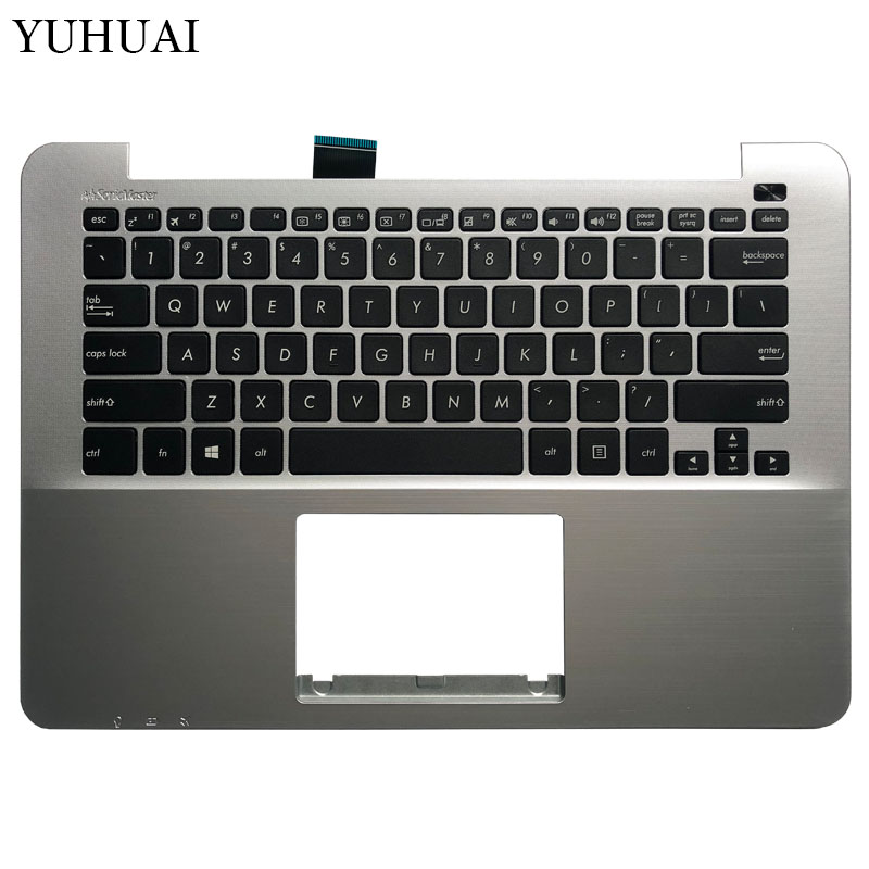 US laptop Keyboard For <font><b>ASUS</b></font> R301 <font><b>X302</b></font> X302L P302 p302LJ F302 X302la Palmrest Upper cover MP-13J63US-5281 image