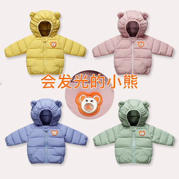 Children Down Coats Infant Snow Outerwear Clothes Girls Boys Cartoon Print Jackets Autumn Winter Warm Hooded Coats 0-4 Years big girls denim trench coats double breasted letter jackets for girls outerwear brand 2017 children clothing 4 13 years
