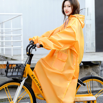 Yellow Long Raincoat Electric Motorcycle Rain Poncho Transparent Rain Coat Increase Thick Waterproof Suit Adult Impermeable Gift