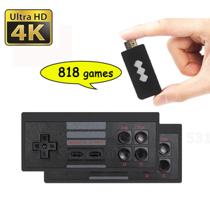 818 4K Games USB Wireless Console Classic Game Stick Video Game Console 8 Bit Mini Retro Controller HDMI Output Dual Player HD