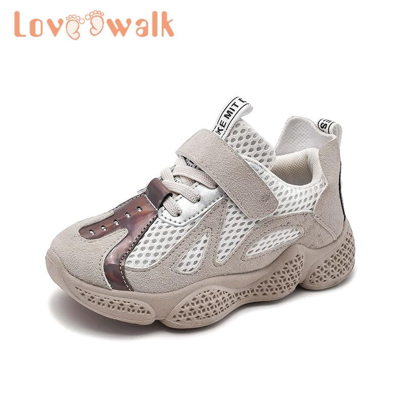 Children Casual Sneakers For Boys Girls Summer Reflective Breathable Mesh Upper Fashion Kid School Sneaker Anti Slip Sport Shoes