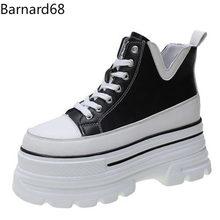 Chaussures à semelle épaisse pour femmes, chaussures plates, intérieur et extérieur, à lacets, décontractées, respirantes, à la mode, noires