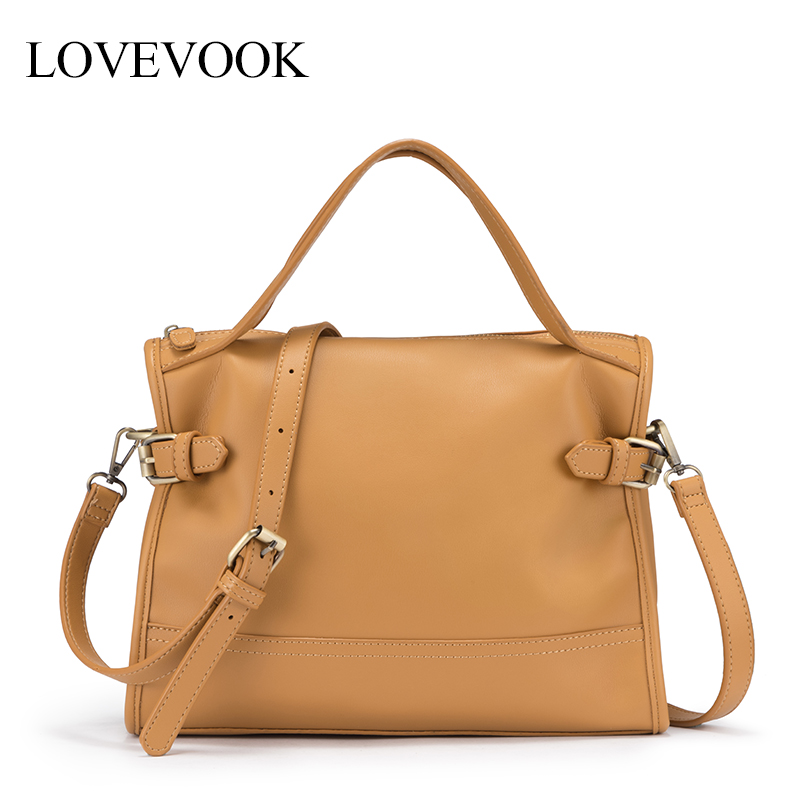 Shoulder-Bags Women Handbag LOVEVOOK Crossbody-Bags School-Work Soft Ladies Boston PU