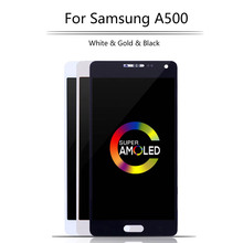 Mobile Phone AMOLED 5.0 LCD For Samsung Galaxy A5 2015 LCD Display Touch Screen Digitizer Assembly A500 A500F A500FU A500M high quality for samsung galaxy a5 2015 a500 a500f a500fu a500m a500y a500fq lcd display touch screen digitizer assembly tools