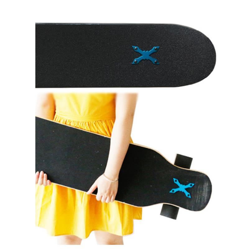 Skateboard Gasket 2Pcs Aluminum Alloy Longboard Deck Protect Gasket Anti Sag Pad Hardware Skateboard Parts