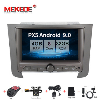 Android 9.0 Car multimedia player gps navigation CAR DVD for ssangyong rexton  car radio BT wifi 4+32G 8 core audio radio