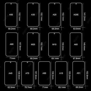 Image 2 - 3Pcs מגן זכוכית לסמסונג גלקסי A7 A9 2018 A6 A8 J4 בתוספת מסך מגן זכוכית מחוסמת עבור Samsung a50 A51 A40 J6 J4