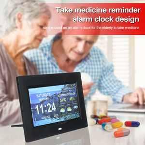 Alarm-Clock Photo-Frames Digital Led-Display Wifi HD 10inch Combination Tablet-Shaped