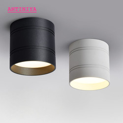Dimmable round LED Downlights Surface Mounted COB 6W 9W12W15W20W LED Spot lights decoration Ceiling Lamp AC85- 265V Panel light
