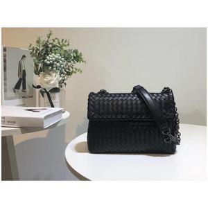 Image 2 - Iç ve dış dermis crossbody çanta basit omuz çantası yüksek kaliteli dokuma çanta koyun derisi kadın hakiki deri