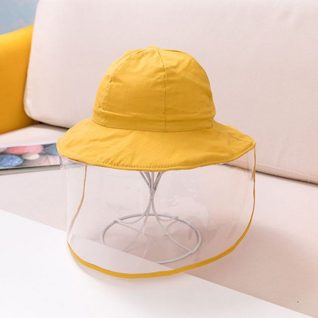 Protective Baby Hat 2020 Kids Bucket Hat for Girls Boys Prevent Wind Sand Spittle Face Mask Kids Cap Child Hats
