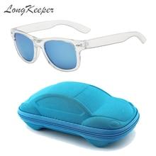 Модные квадратные детские солнцезащитные очки для девочек и