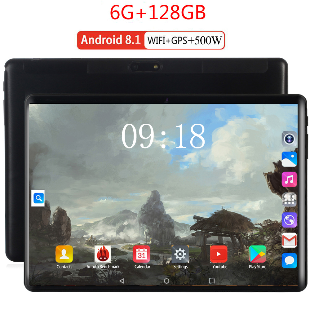 2020 Tempered 2.5D Glass 4G FDD LTE Phon 10 Inch Tablet Pc Deca Core 6GB RAM 128GB ROM 1280*800 IPS Screen WIFI Android 8.0 GPS
