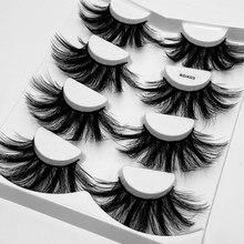 4 pares 25mm dramática 6d vison cílios postiços macio fofo cílios de olho cílios grosso longo handmad falso extensão da pestana maquiagem