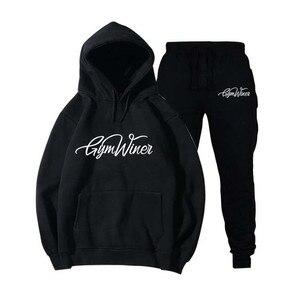 Image 1 - New 2019 Brand New GYM WINER Men Sportswear Print Men Hoodies Pullover Hip Hop Mens tracksuit Sweatshirts Clothing