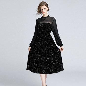 BGW 3324ht High Neck A Line Black Tulle Cocktail Dresses Long Sleeves 2020 Women Vestidos De Coctel Tallas Grandes Mujer