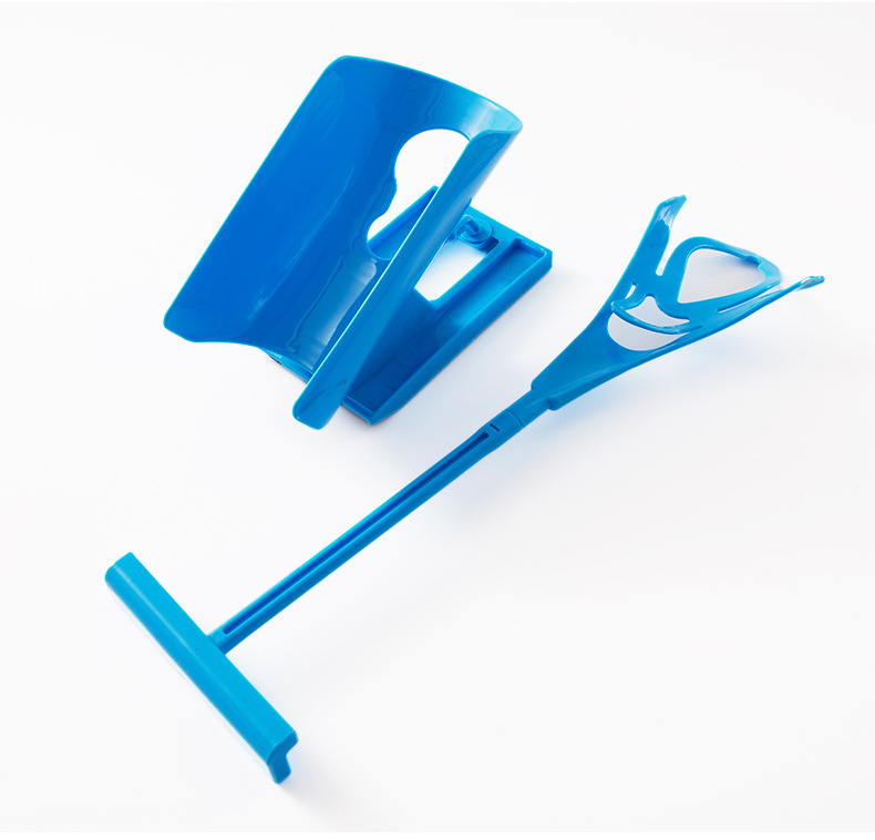 New Blue Sock Slider Aid Easy On Off Sock Helper Kit Shoe Horn Pain Free No Bending Shoe Horn For Pregnancy Dressing Aids Tools