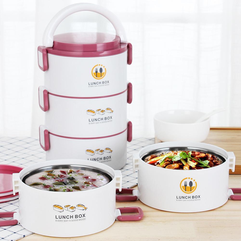 900ml trois couches thermique boîte à Lunch étanche empilable salade soupe Bento boîte Portable conteneur boîte avec sac travailleurs étudiants
