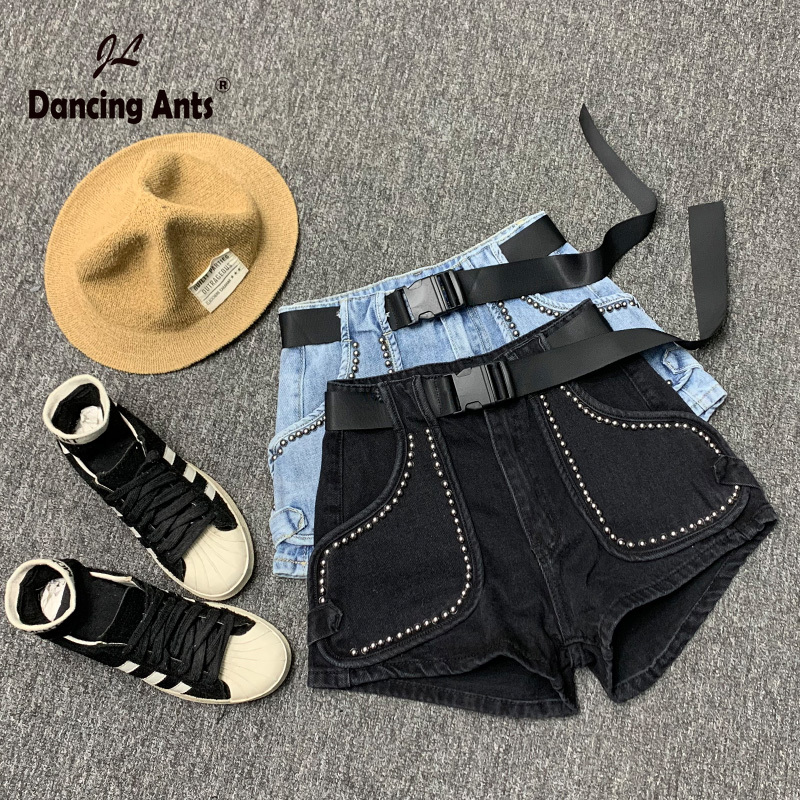 Woman Jeans Shorts High Waist Wide-leg Loose Short Trousers Cotton Solid Pockets Casual Female Denim Shorts 2020 New Fashion