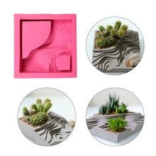 Molde de silicona para maceta de hormigón, para maceta de cemento y plantas suculentas, hecho a mano, para yeso, arcilla artesanal, decoración del hogar