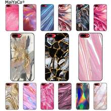 MaiYaCa New marble colored gold dust Black TPU Soft Phone Cover for iPhone 11 pro XS MAX 8 7 6 6S Plus X 5 5S SE XR case(China)