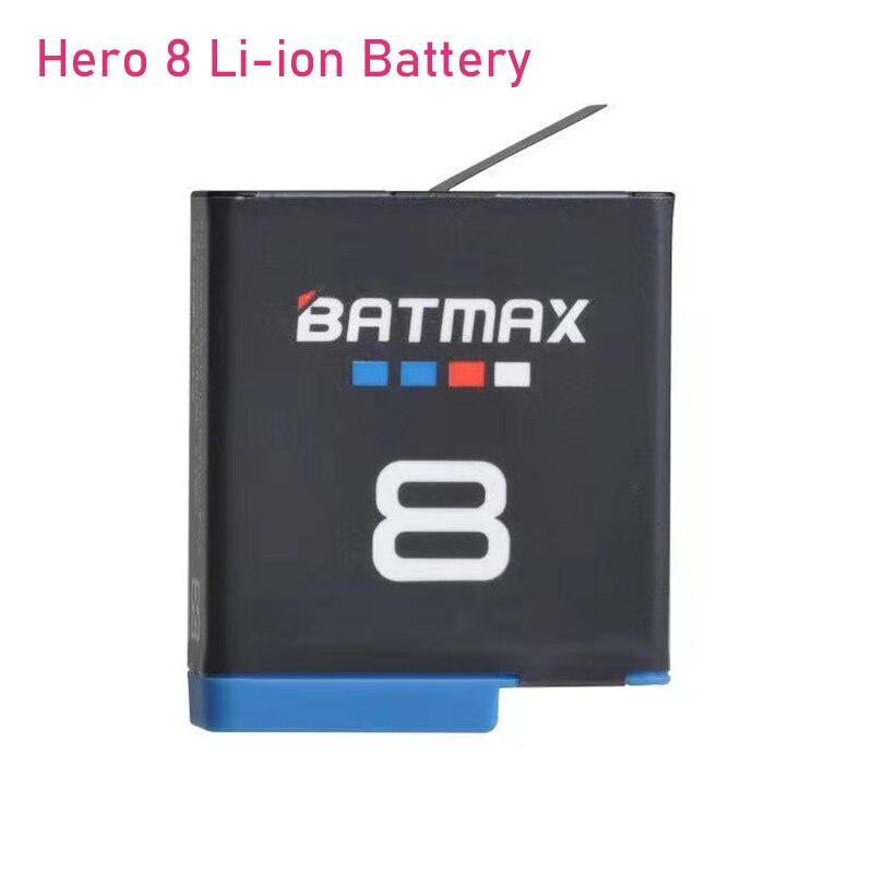 Batterie originale Batmax pour Gopro Hero 8 Li-ion noir Hero 8 noir GoPro Hero 7 Cam Akku + chargeur USB LED