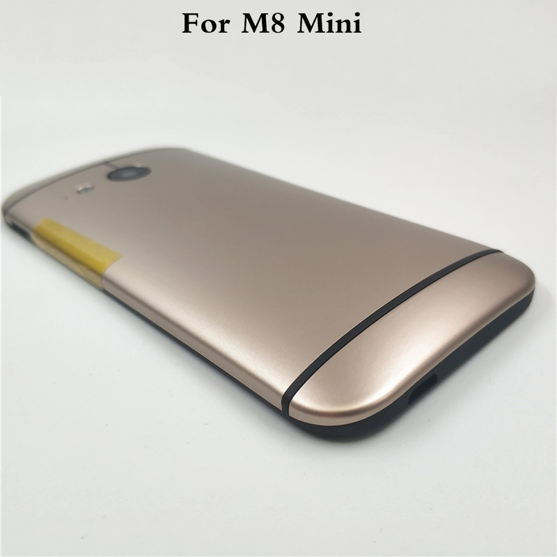 New <font><b>Battery</b></font> Door Back Cover Housing <font><b>Case</b></font> For <font><b>HTC</b></font> One 2 <font><b>M8</b></font> Mini With Power Volume Buttons+Camera Lens image