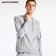 JACK JONES Mens ฤดูใบไม้ร่วง Drawstring Sweatshirt Hoodies