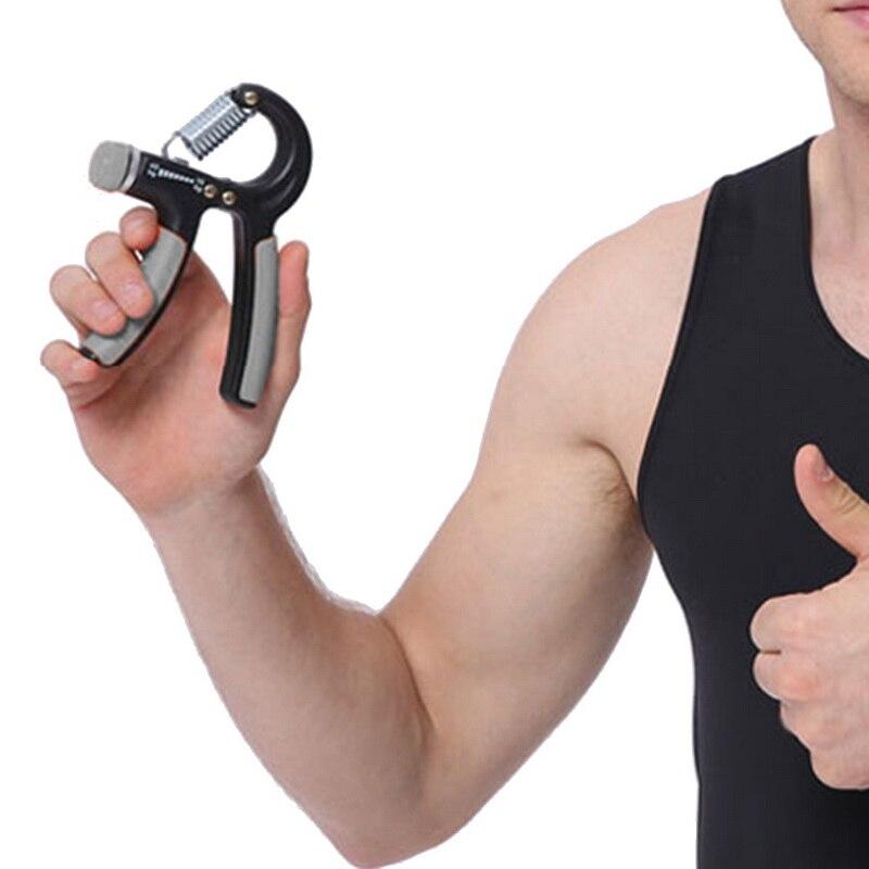 R-Shape Adjustable Hand Grip Sports Strength Countable Exercise Strengthener Gripper Spring Finger Pinch Carpal Expander 3