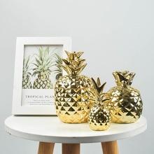 Ceramic Pineapple Storage Tank Candle Storage Container Dustproof Cover Sugar Crafts Desktop Seal Jar Home Decoration Furnishing
