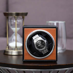 Storage-Organizer Watch Winder-Holder Jewelry Shaker Motor Display Black Usb-Power-Supply