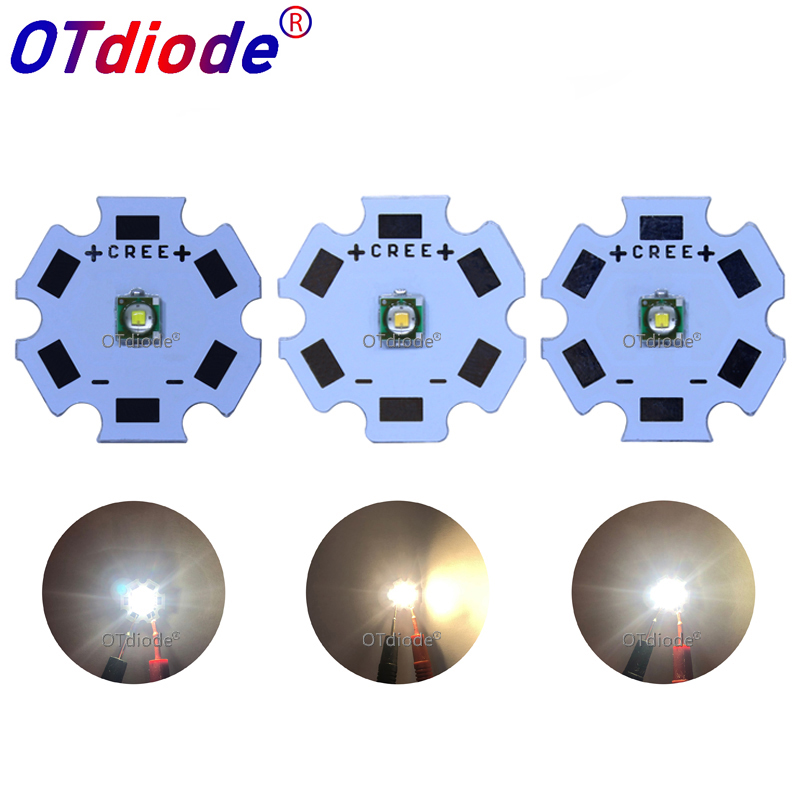 20pcs Cree XPC XP-C Q5 3535 SMD 1W LED Emitter Diode Neutral White Cool White Warm White With 20mm 16mm 12mm 8mm PCB